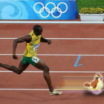 Usain Bolt catching a fleeing Pidgey
