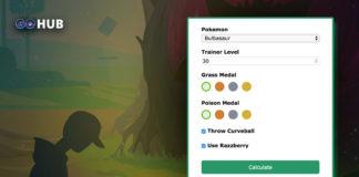 Pokemon GO Catch bonus calculator