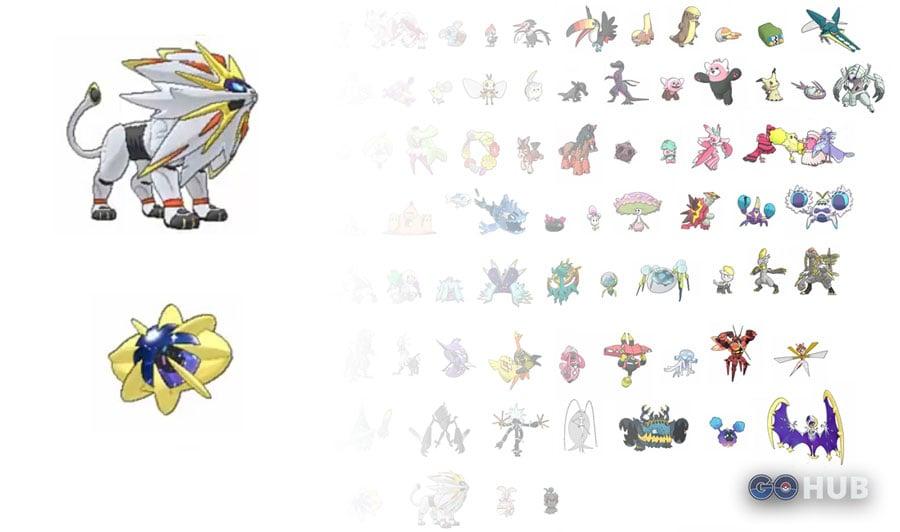 pokemon sun and moon pokedex leak shows legendary pre evolutions