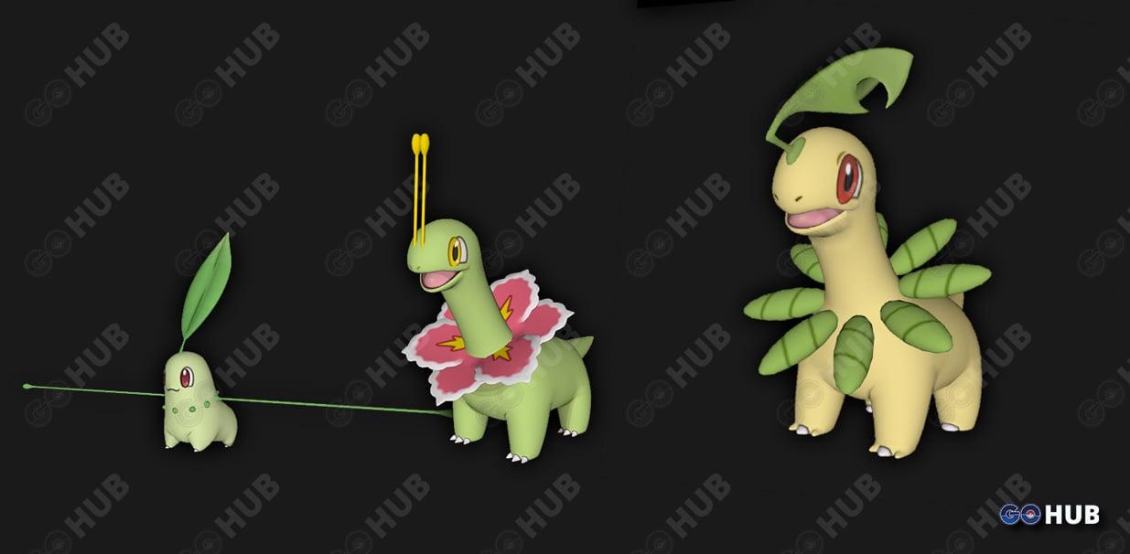 Pokemon GO Generation 2 Starter Models