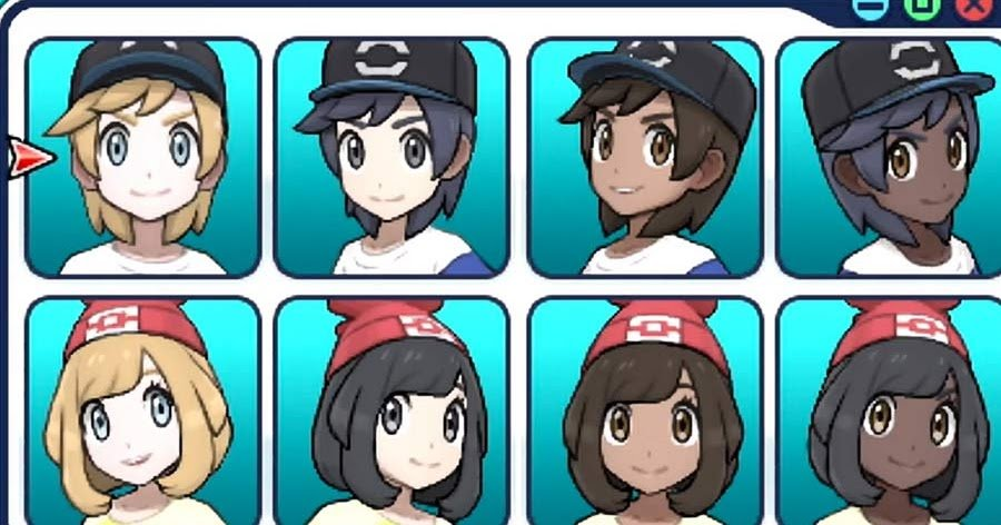 Pokémon Sun and Moon Hairstyles  Pokemon GO Hub