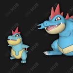 Totodile, Croconaw and Feraligatr