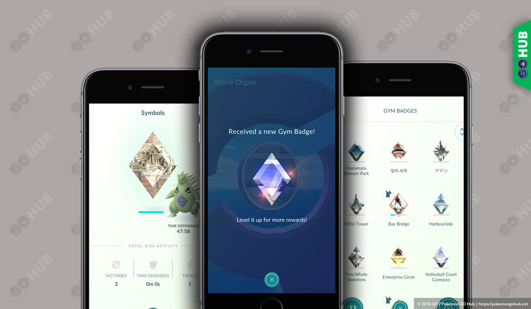 pokémon go gym badges pokemon go hub