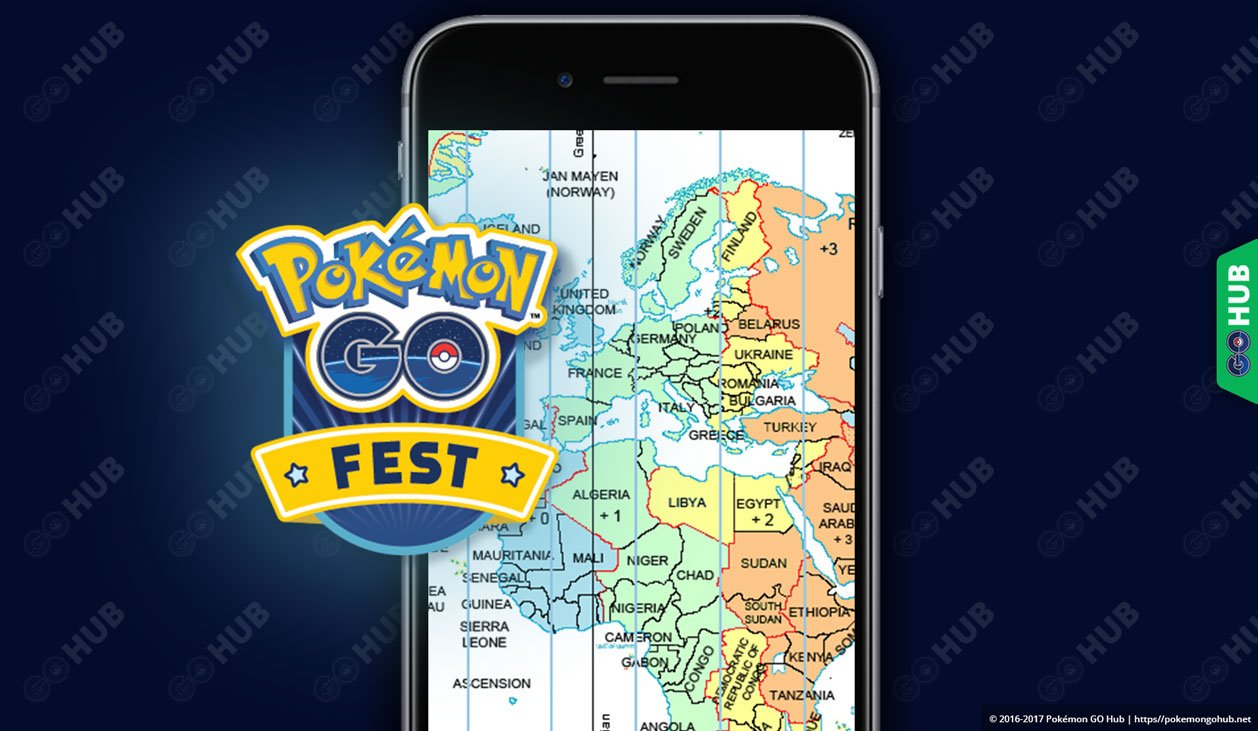 Pokémon GO Fest Time Zones