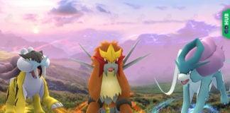 Pokemon GO Entei Suicune Raikou