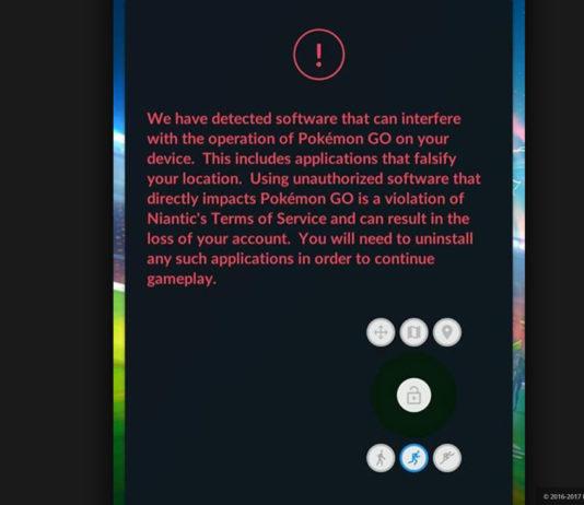 Blacklisted app warning screen