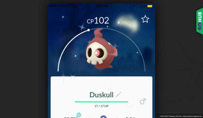 Shiny Duskull Pokemon GO