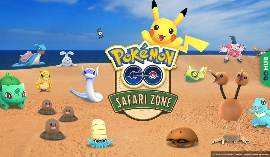 Pokémon GO Safari Zone at Tottori Sand Dunes