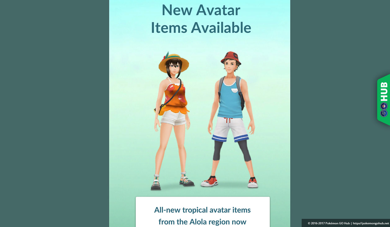 63762d85 New Alola region clothing items available in Pokémon GO for free ...