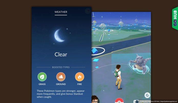 Clear Weather in Pokemon GO