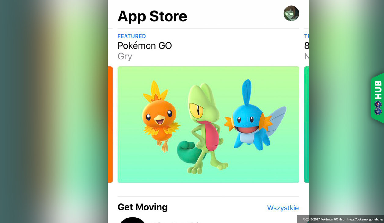 Pokémon GO Generation 3 advertisement appears in the Apple Watch store!