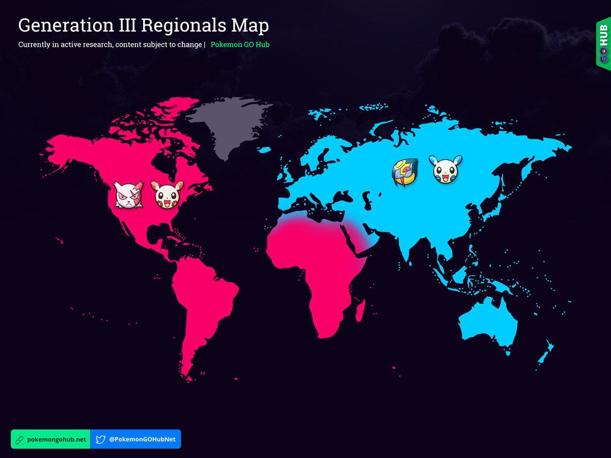 Generation III Regional Map