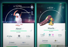 Shiny Mawile and Absol Pokemon GO
