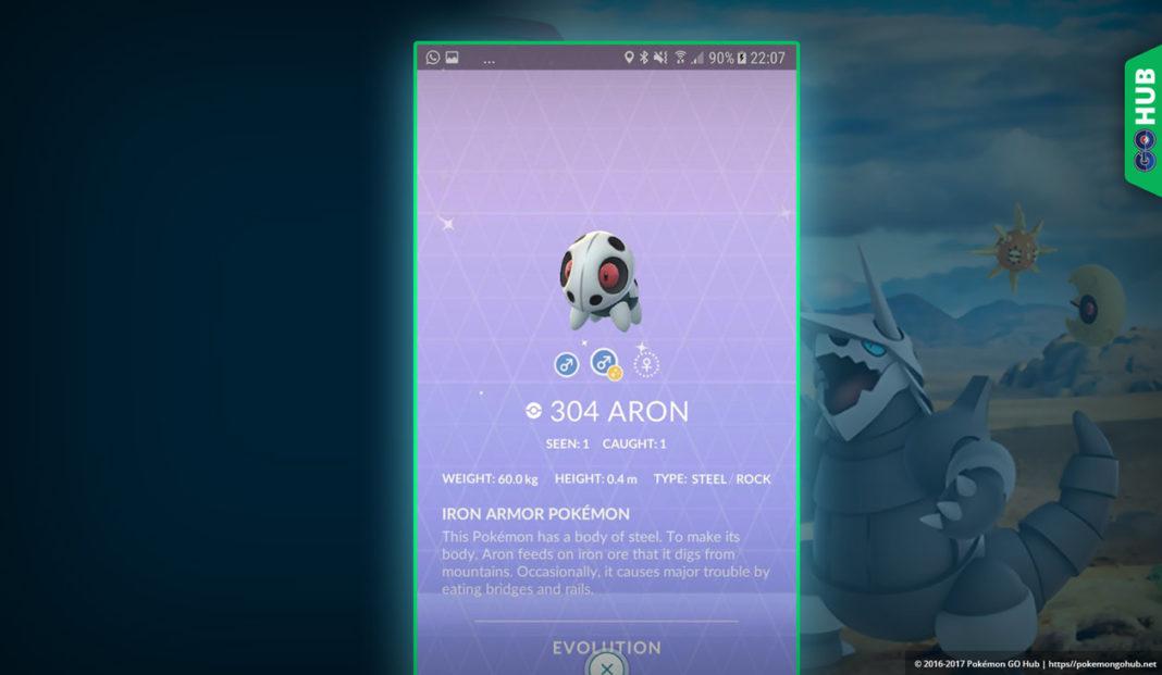 Shiny Aron Pokemon GO