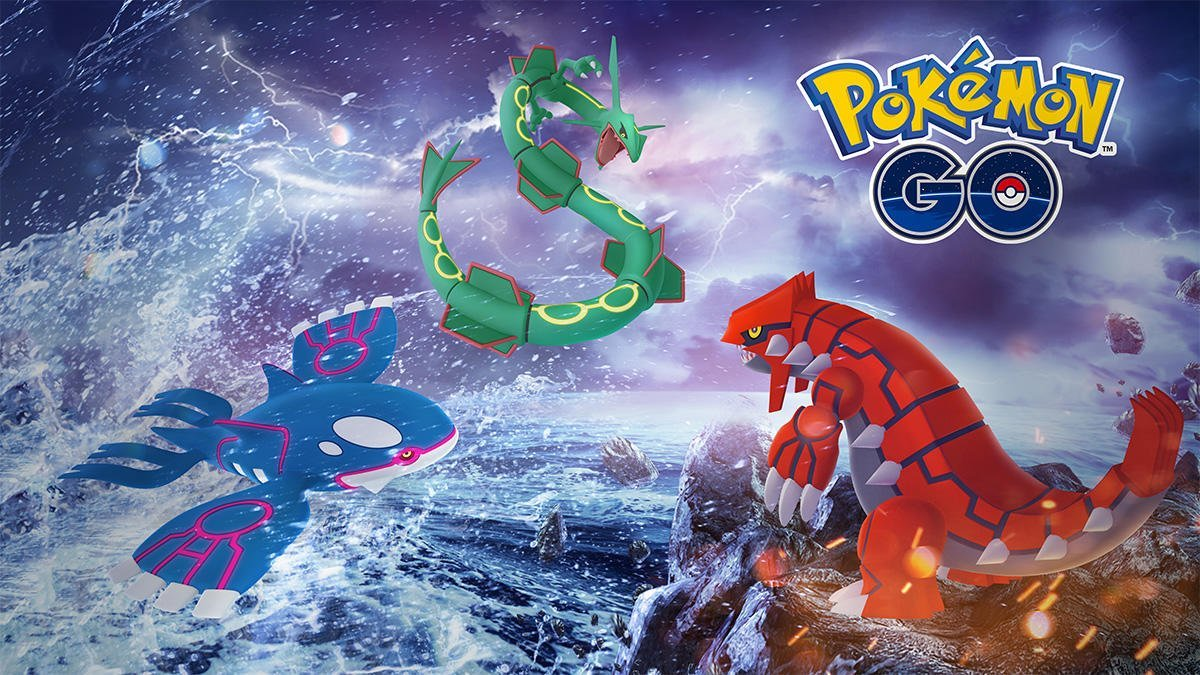 Legendary Week Kyogre Groudon And Rayquaza