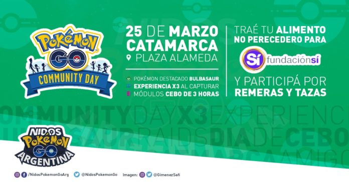 Nidos Pokemon GO Argentina organizes another Community Day food charity