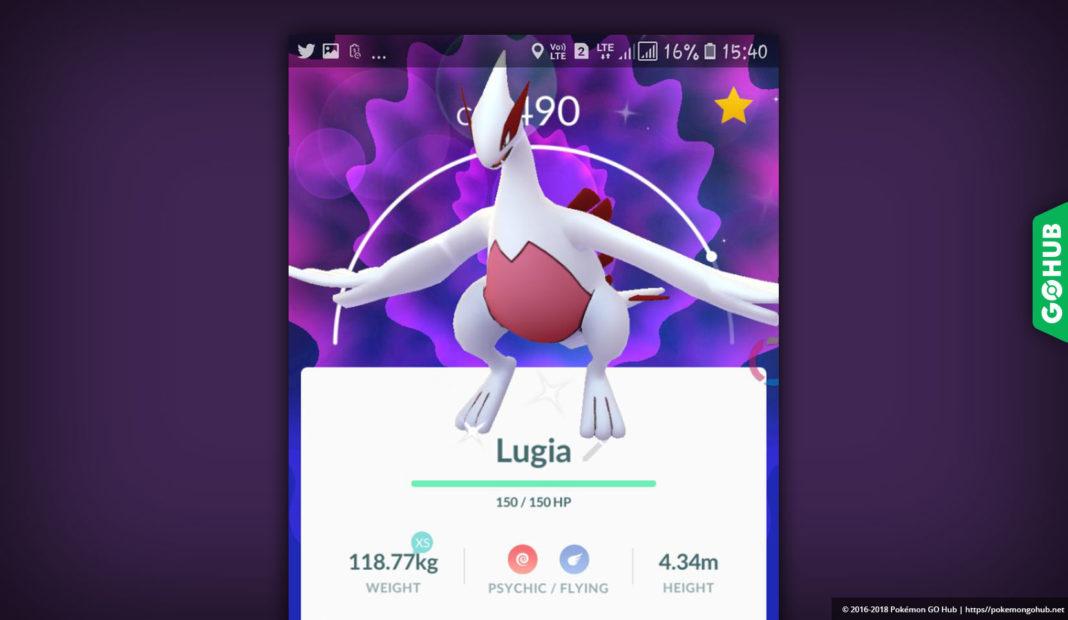 Shiny Lugia Pokémon GO