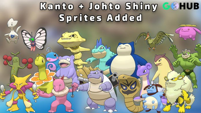Kanto and Johto Shiny