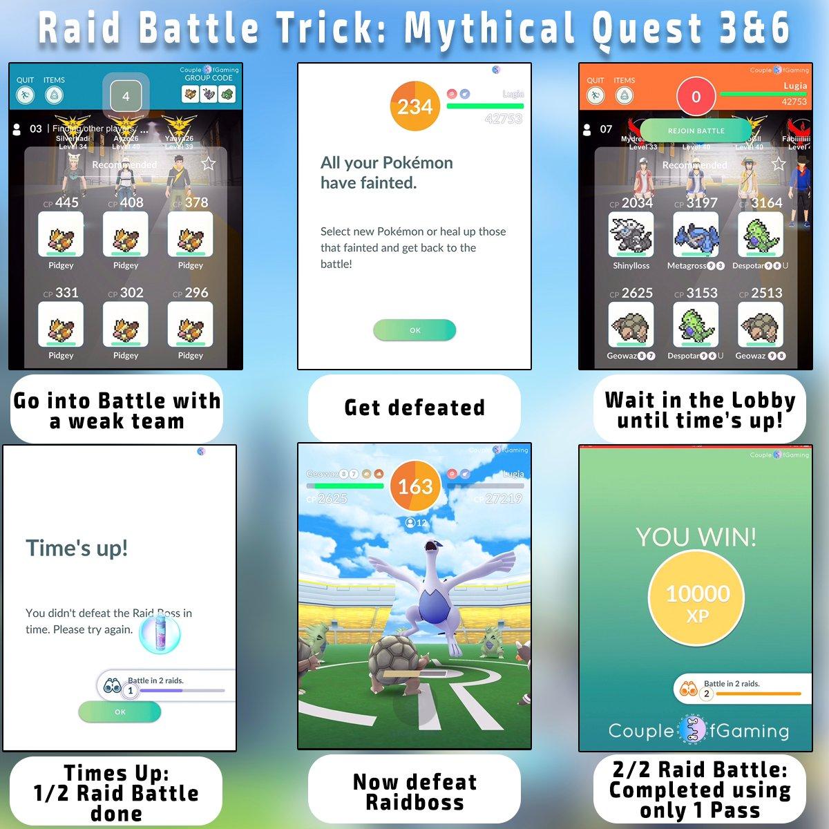 Raid Battle Trick