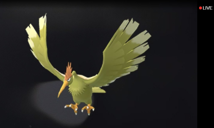 Pokemon GO fearow shiny