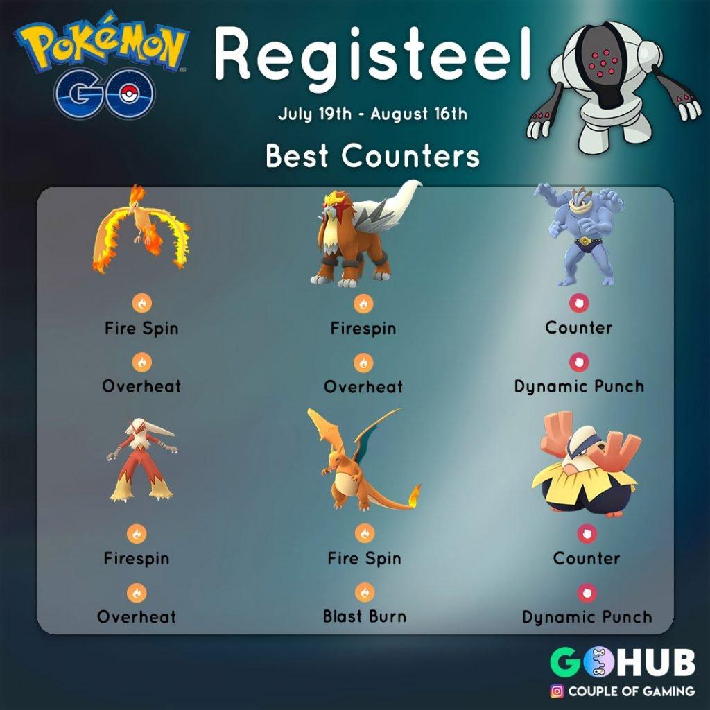 Registeel Raid counters