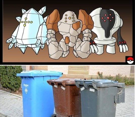 Regi trio compared to trash cans