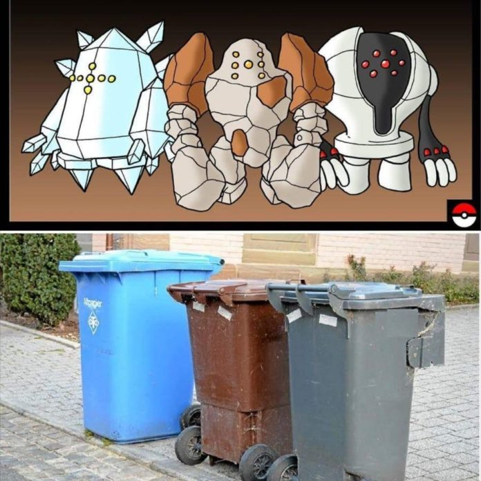 Regi trio compared to trash cans