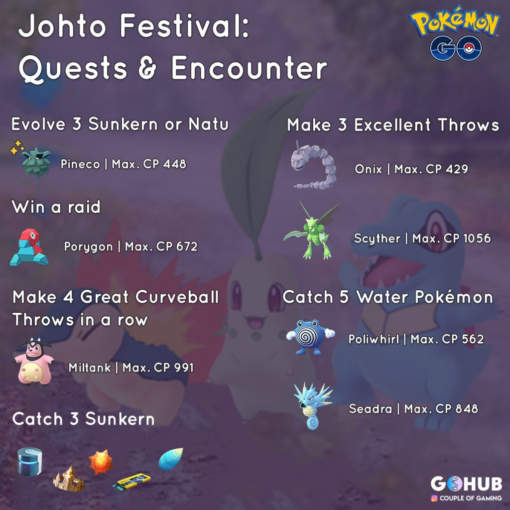 Johto Festival New Quests