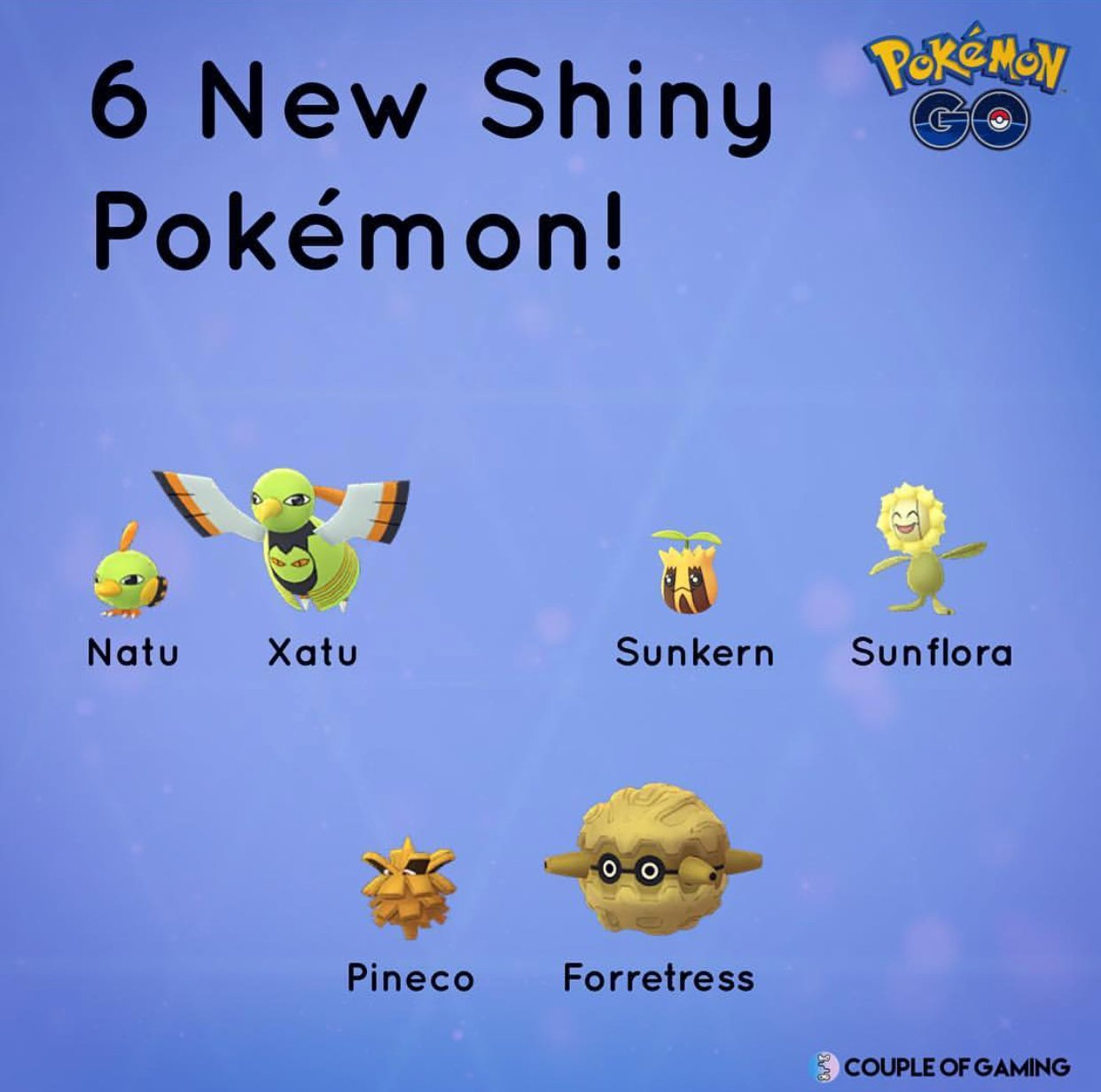 Noví Shiny Pokemoni