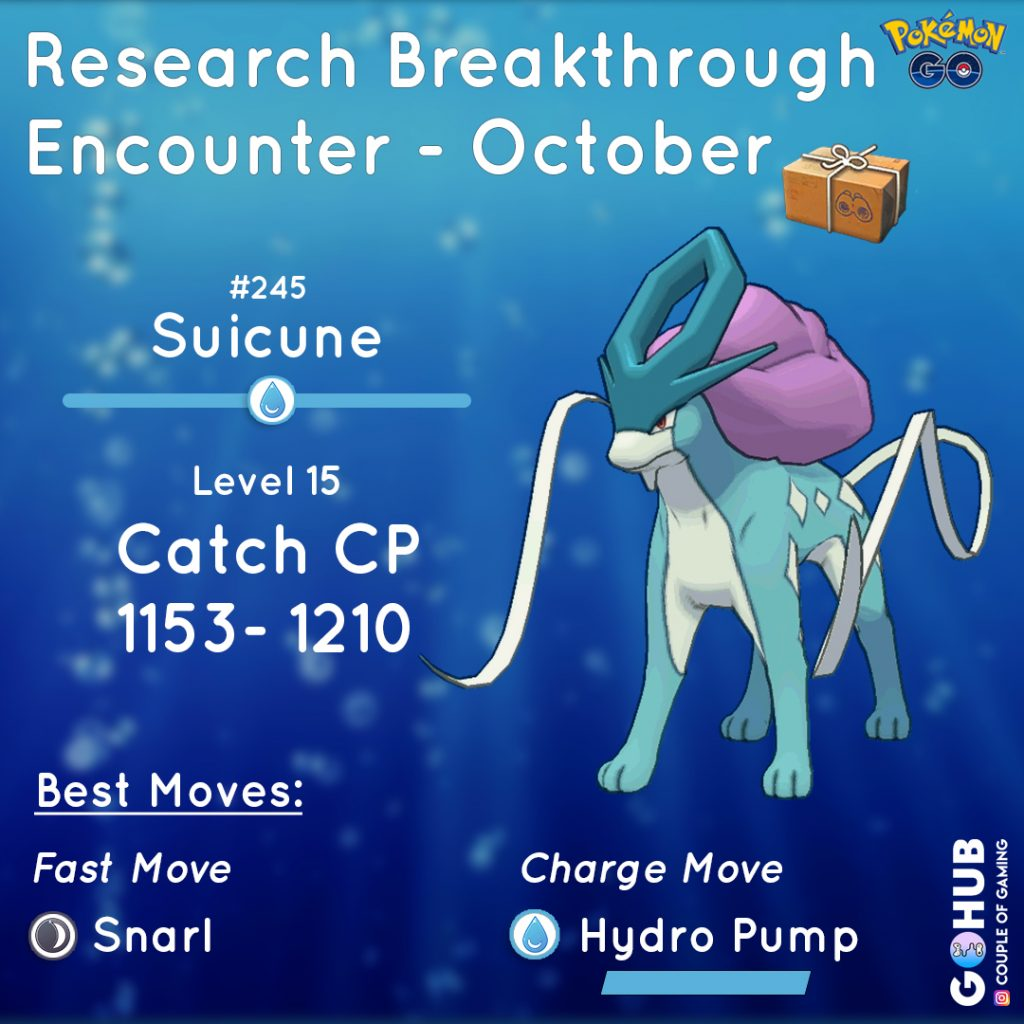 October Suicune field research reward