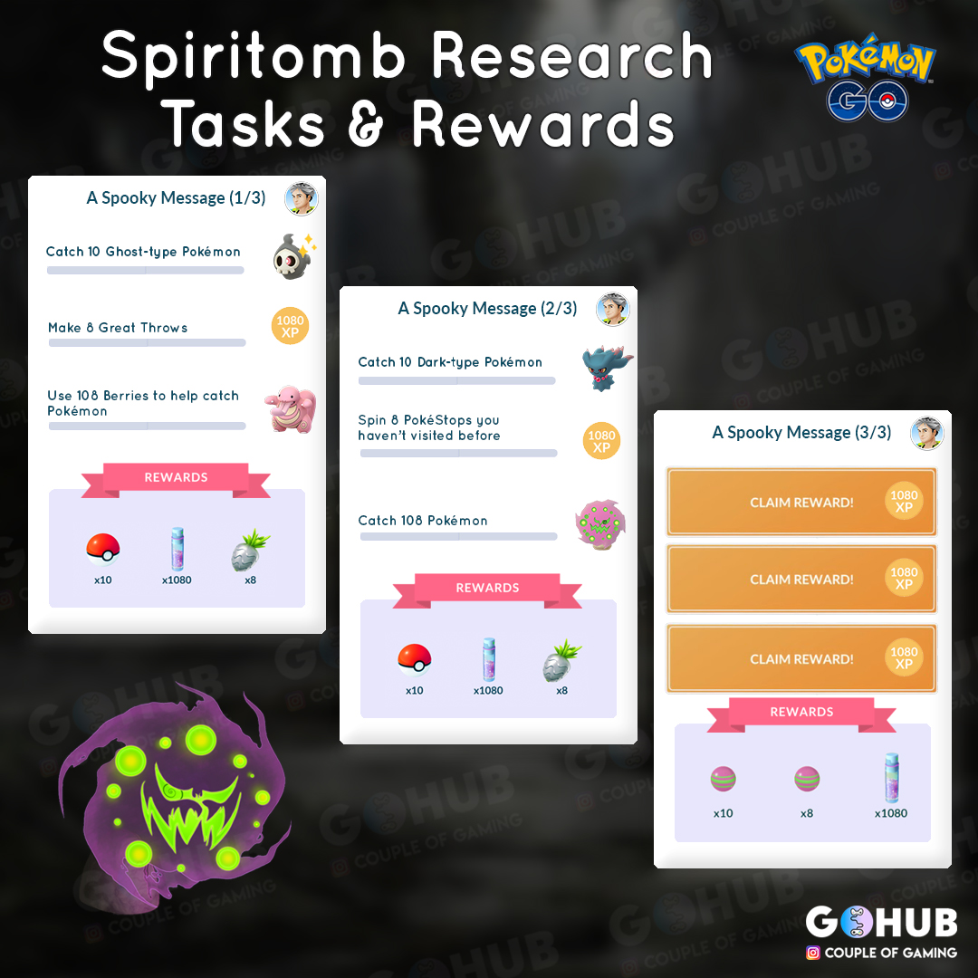Spiritomb quest (A Spooky Message) guide: how to get Spiritomb in