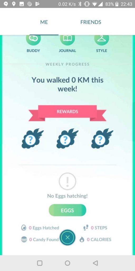 Adventure Sync rewards