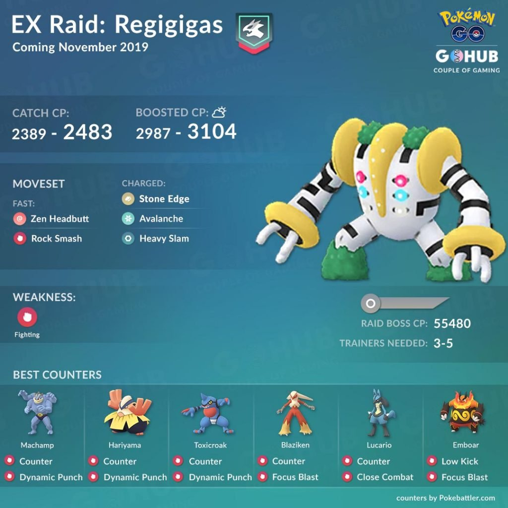 Regigigas Counters in Pokemon GO