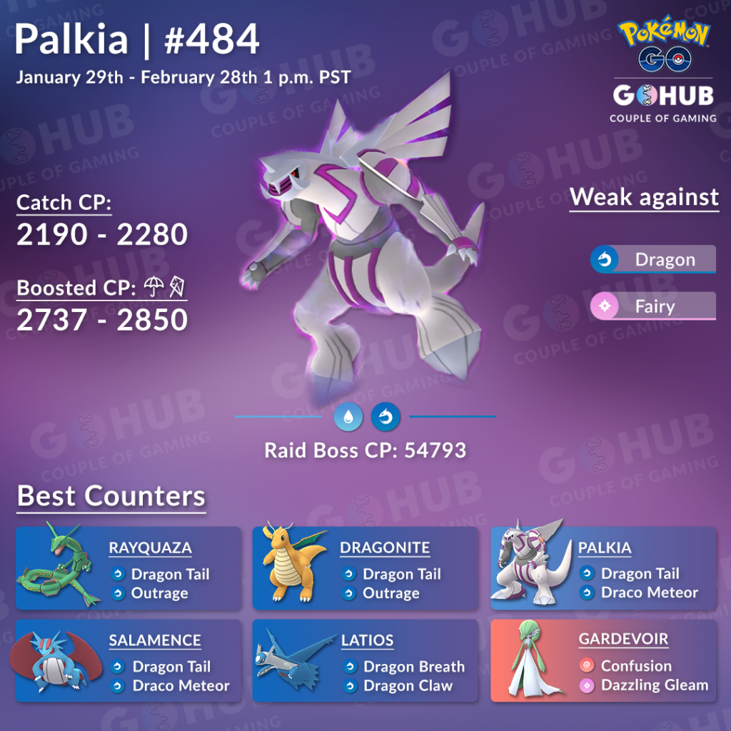 Palkia raid counters infographic