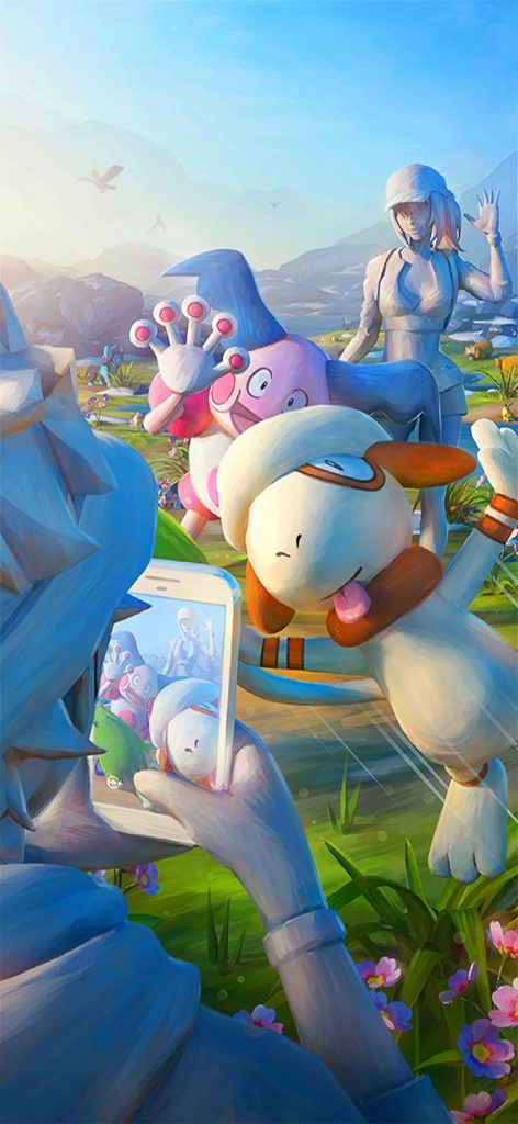 Pokemon GO 0.135.0 loading screen featuring Smeargle and Mr.Mime