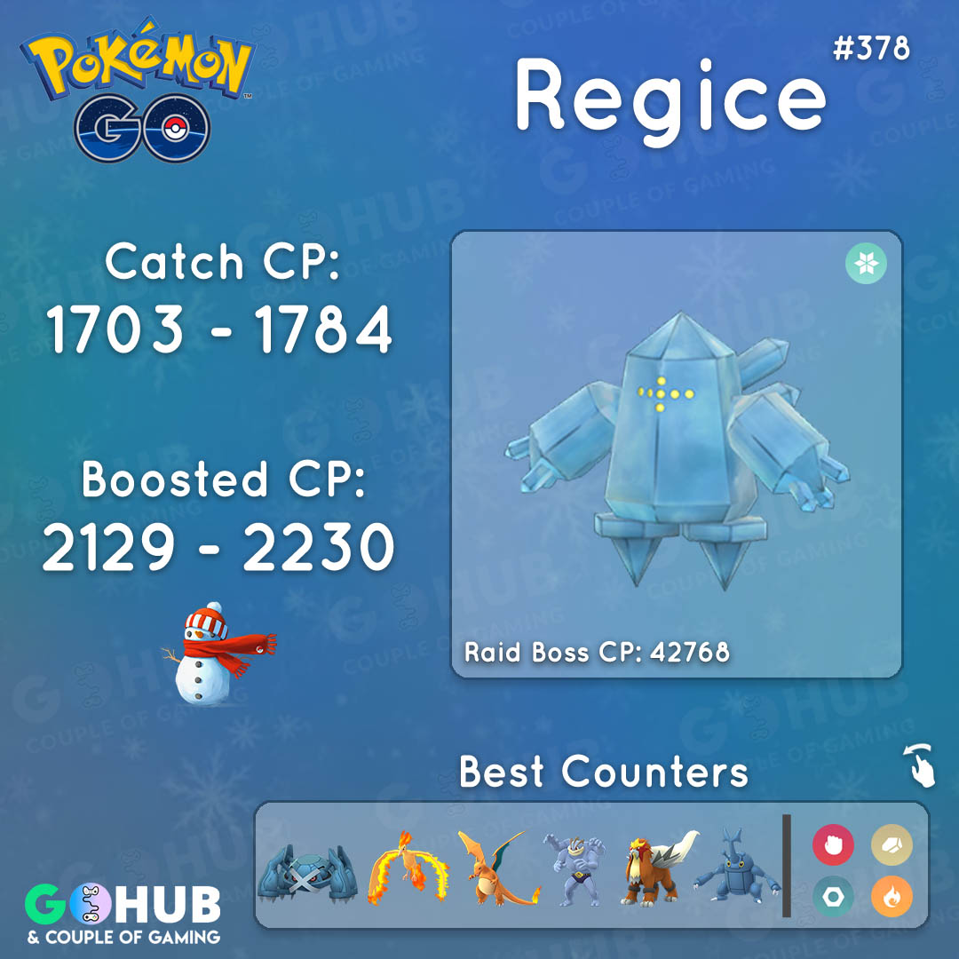 Regice Raid Counters Guide Pokemon Go Hub