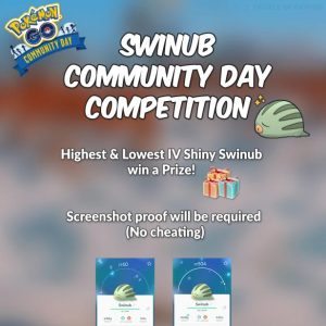 Giving Back: Swinub Community Day Competition Infographic