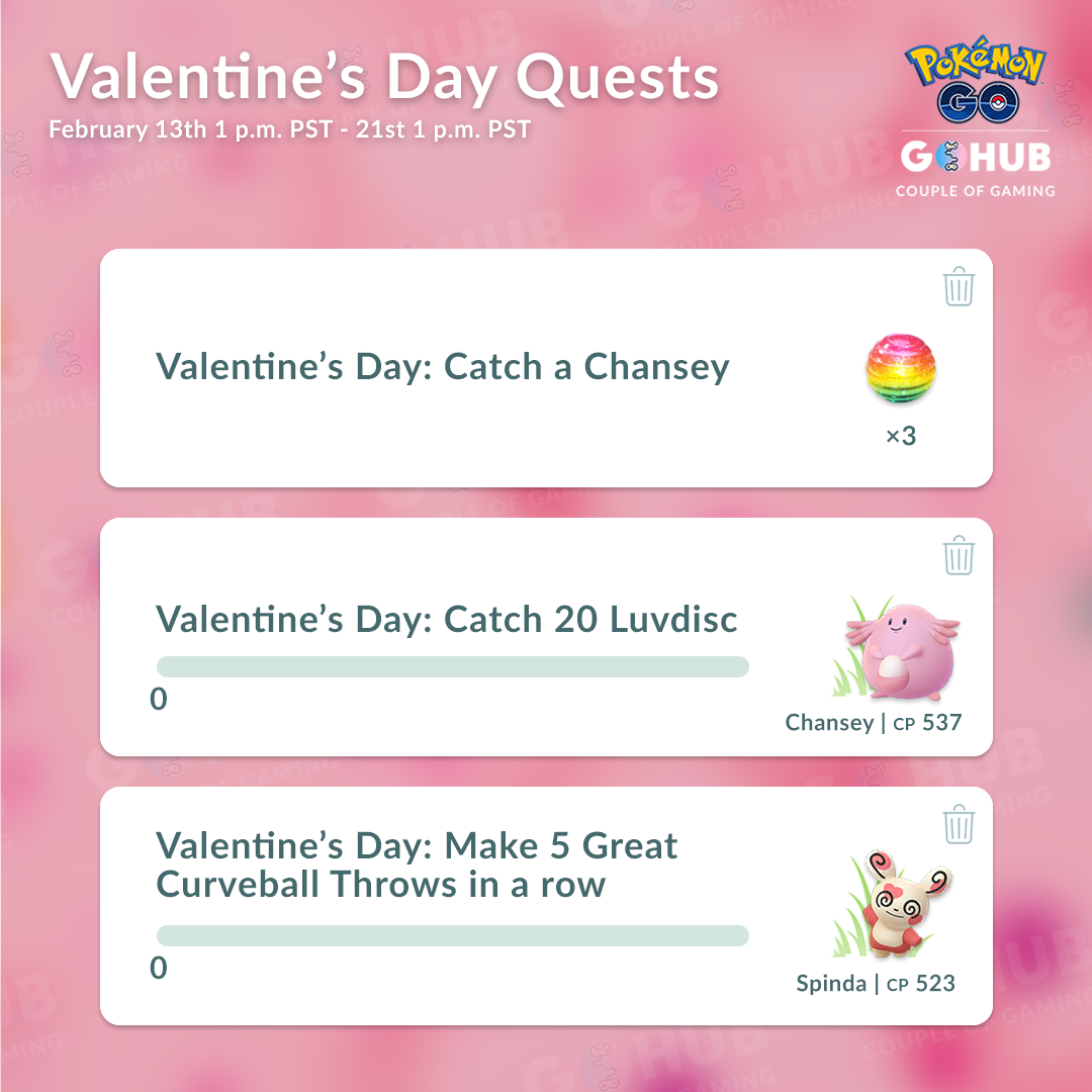 Valentine's Event Quests