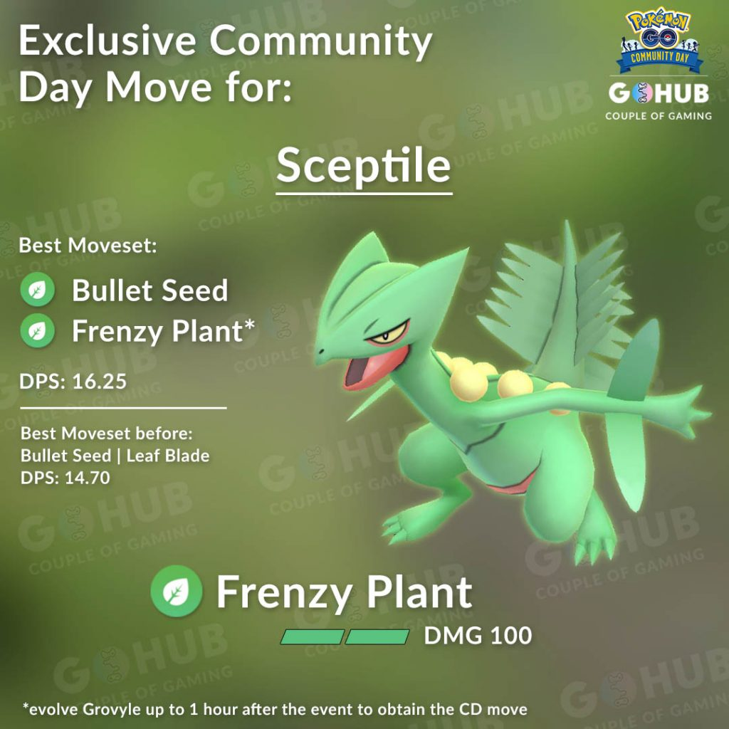 Sceptile with Frenzy Plant