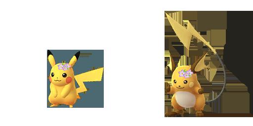 Floral crown Pikachu and Raichu