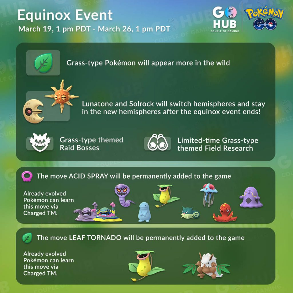 Pokemon GO Equinox event 2019