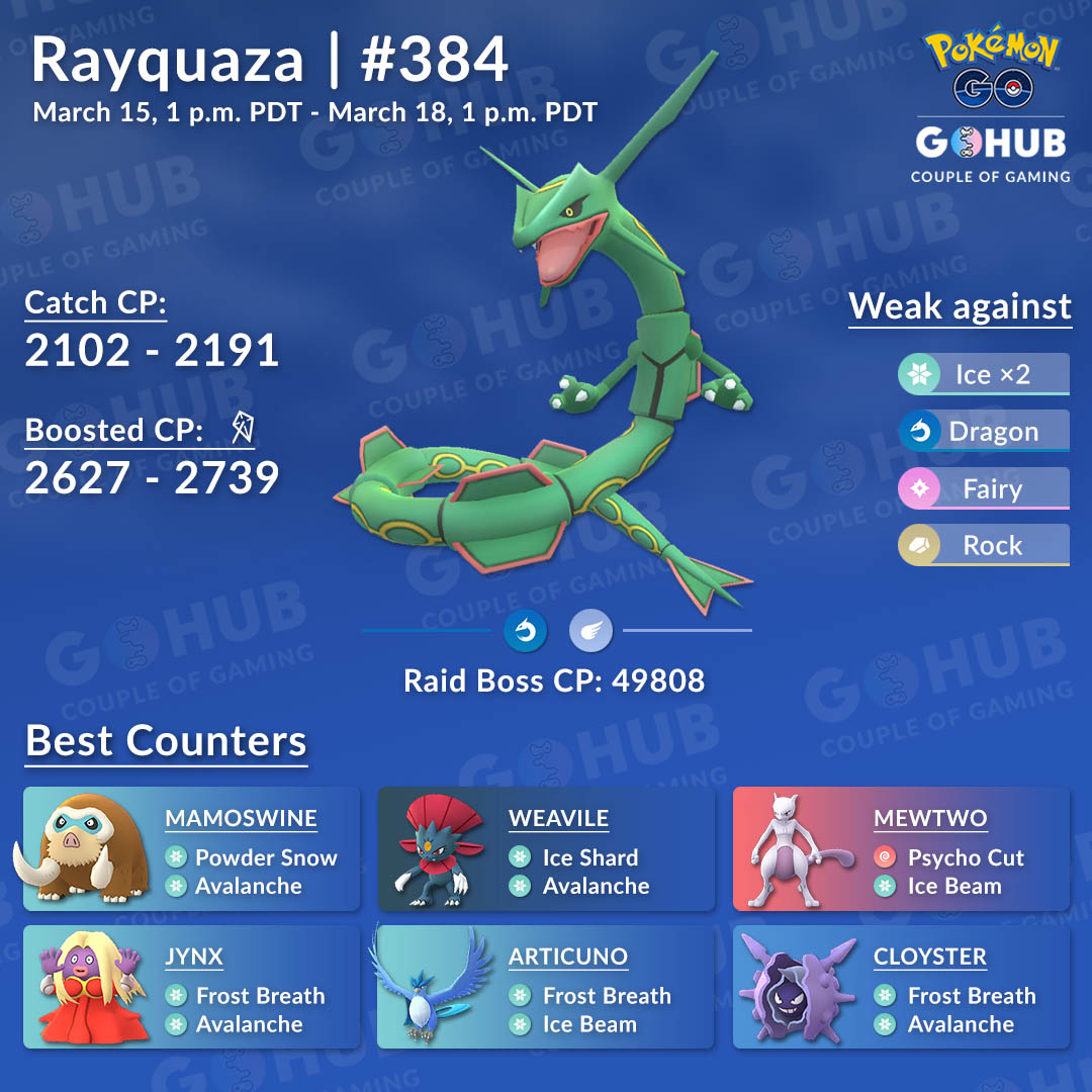 Rayquaza counters