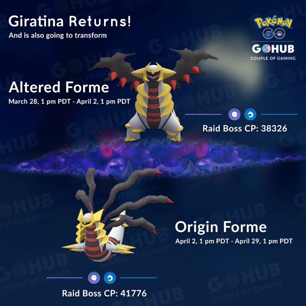 Giratina returns to Pokemon GO, both Altered and Origin form