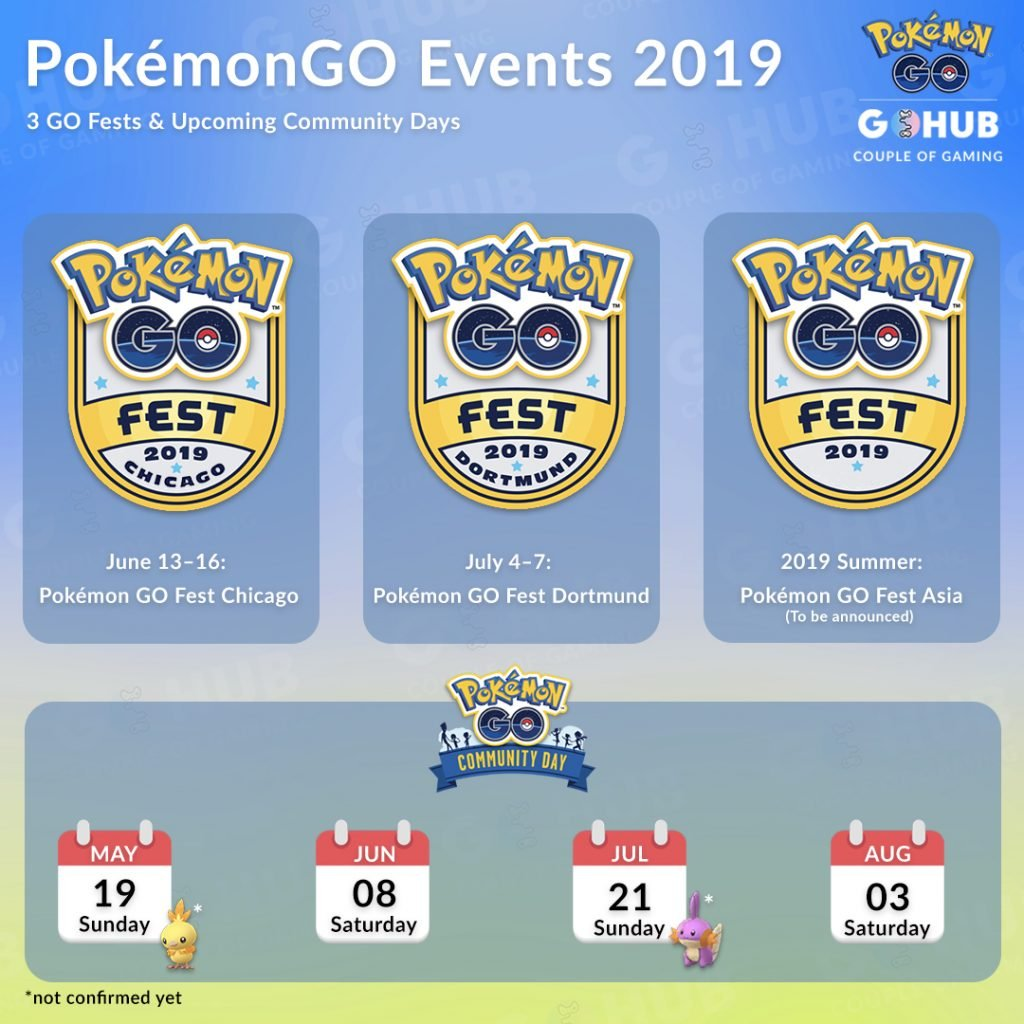 Pokemon GO Summer 2019 events