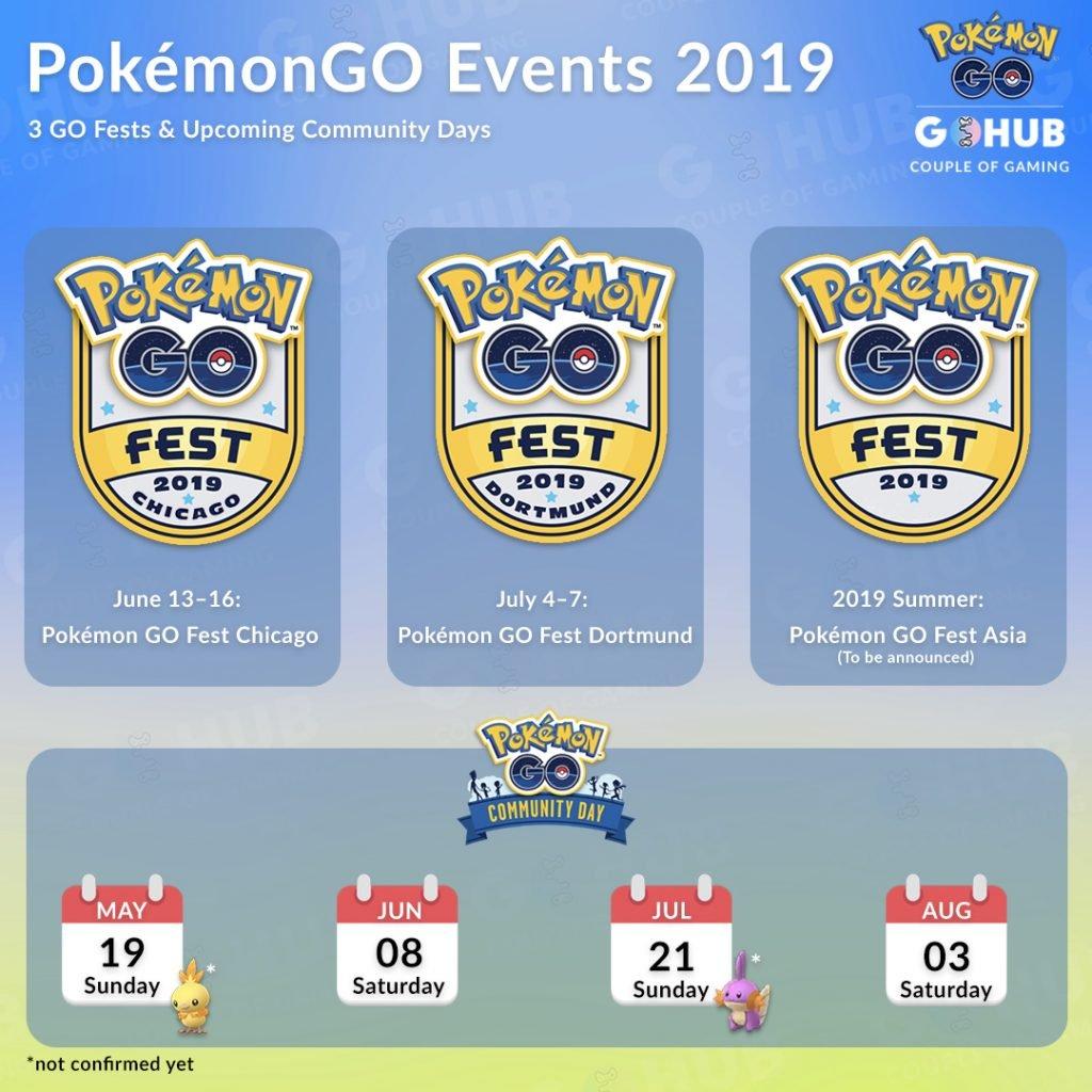 Pokemon GO Summer 2019 events