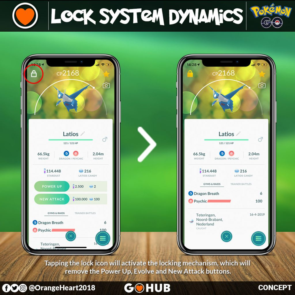 "An idea on how to implement ""Pokemon Locking"" in Pokemon GO"