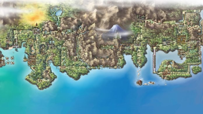 Kanto and Johto Map