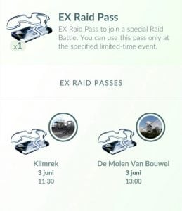 Ex Raids in Pokémon GO - EX Raid Pass Bag