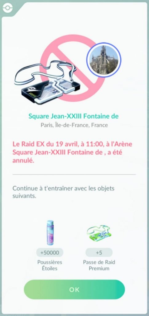 EX Raid Cancellation