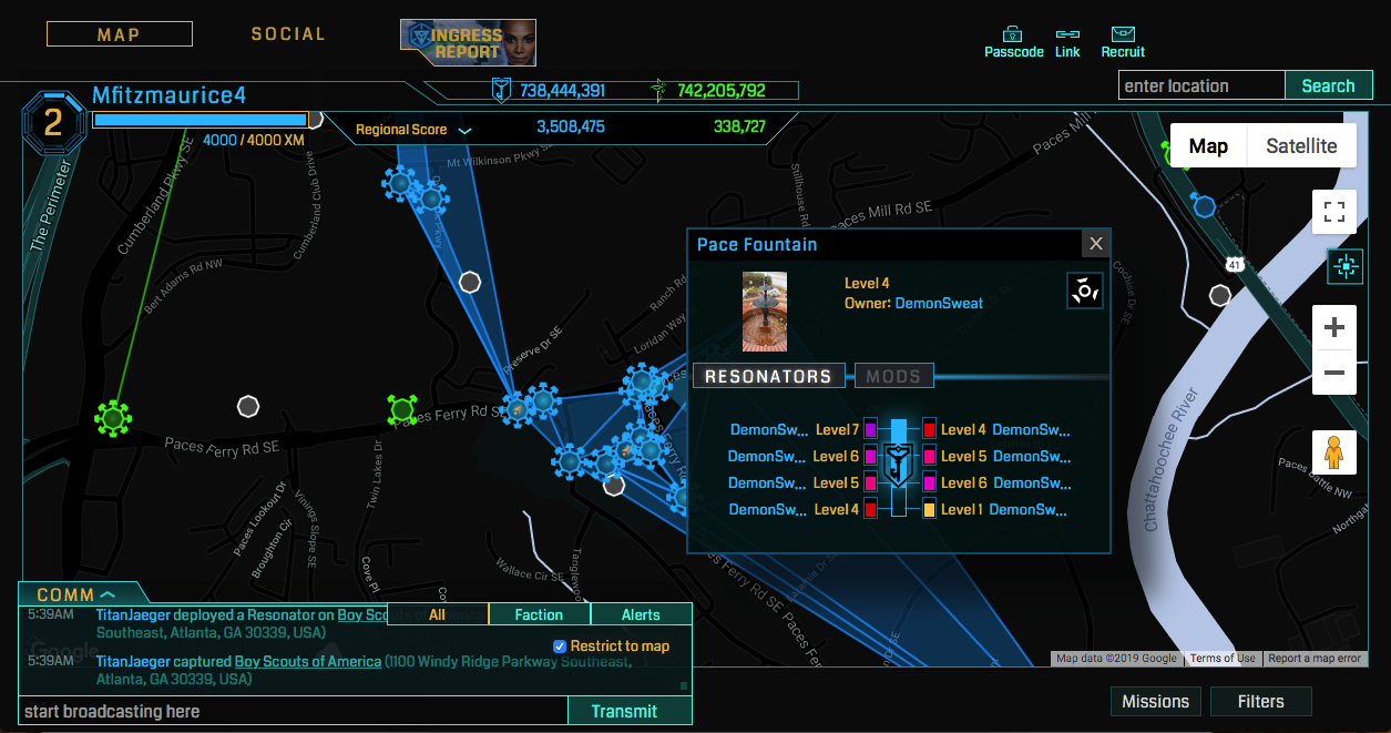 Ingress Intel Map